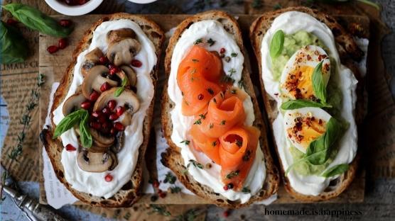 Yeni Yıl Kahvaltı Önerisi: Ekmek Üstleri