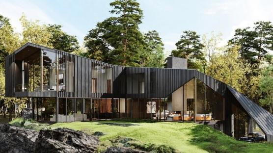 New York Ormanı'nda Lüks Villa