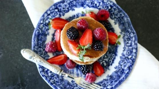 Vegan ve Rafine Şekersiz Pancake