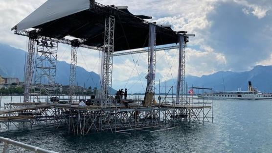 Cenevre Gölü Manzarasında Montreux Caz Festivali