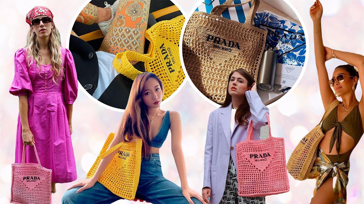 Prada'nın Yeni Gözdesi: Raffia Tote Bag